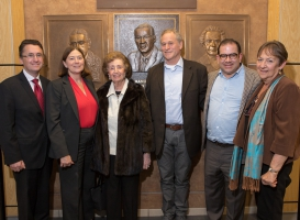 Re-dedication of the Rabbi Manuel Laderman bronze relief